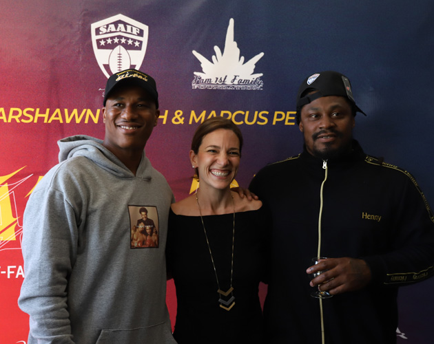 Marshawn Lynch Family >> Marshawn Lynch And Marcus Peters Lead All Pro Football Camp