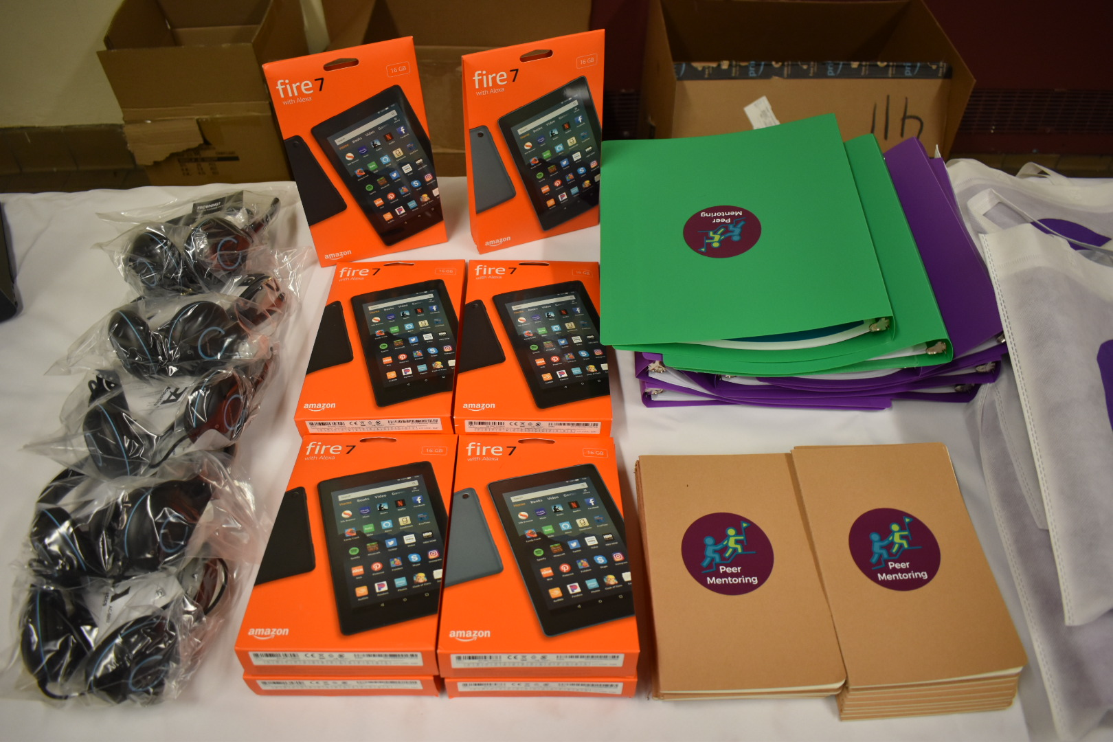 Distributing technology to migrant youth in NYC